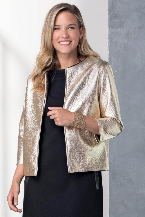 Veste dorée femme